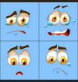 set of facial expression vector image