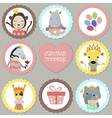 Set of tags with princess theme vector image
