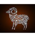 sheep 2015 vector image vector image