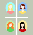 simple cute avatars vector image vector image