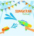 songkran or water festival thailand vector image vector image