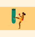 sport strength fight training fitness concept vector image