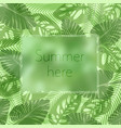 the summer here lettering in a frame on the vector image vector image