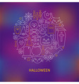 Thin Line Halloween Holiday Icons Set Circle vector image vector image
