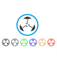 triple umbrella rounded icon vector image