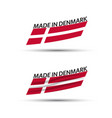two modern colored flags denmark vector image vector image