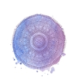 Watercolor mandala isolated element vector image
