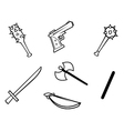 weapons bw vector image