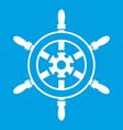 wheel of ship icon white vector image vector image