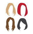 wig hair icon design template isolated vector image