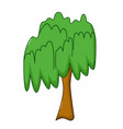 willow tree icon cartoon style vector image