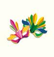 carnival mask design vector image
