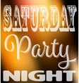 Saturday party night quote Square card with label