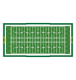 american football aerial field vector image vector image