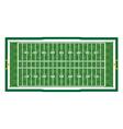 American Football Aerial Field vector image vector image