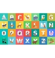 Animals Alphabet Letter from A to Z vector image vector image