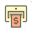 atm machine and banknote icon design for vector image