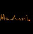 barcelona light streak skyline vector image