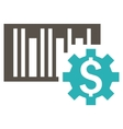 Barcode Price Setup Flat Icon vector image vector image