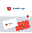 basket ball logotype with business card template vector image vector image