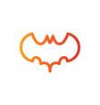 bat line color icon vector image