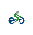bicycle logo vector image