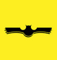black bat logo with yellow background vector image vector image