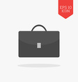 Briefcase icon Flat design gray color symbol vector image vector image