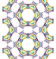 bright round kaleidoscopic pattern vector image