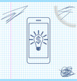 business light bulb with dollar on smartphone vector image