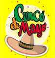 card template for cinco de mayo festival vector image