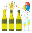 champagnes party design elements vector image