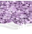 christlass snow hills vector image vector image