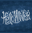decorative lettering hello winter vector image vector image