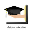 distance education on the internet vector image