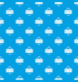duffel pattern seamless blue vector image vector image