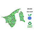 ecology green composition brunei map vector image vector image