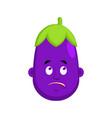 eggplant bewildered emotion avatar purple vector image vector image