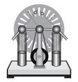 Electrostatic machine vector image vector image