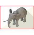 Elephant isometric flat 3d vector image vector image