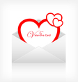 Envelope letter modern red heart card