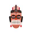 ethnic african tribal mask showing teeth vector image vector image
