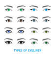 eyeliner stylish make up thin line poster vector image vector image