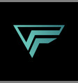 f logo template abstract black background vector image vector image