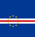 flag in colors of cape verde image vector image vector image