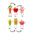 food character design vector image vector image