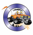 four wheelin truck vector image