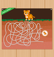 Funny maze game - beautiful educative for kid vector image vector image