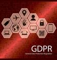 gdpr concept vector image
