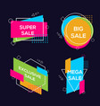 geometric colorful abstract banner vector image